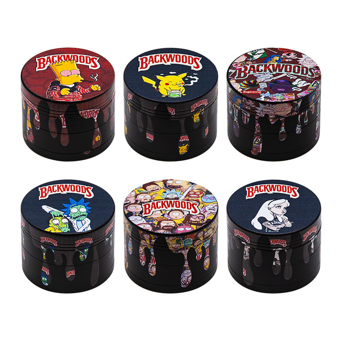 Backwoods Animated 4 Stage Grinders Display Of 12