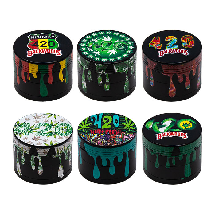Backwoods 420 4 Stage Grinders Display Of 12