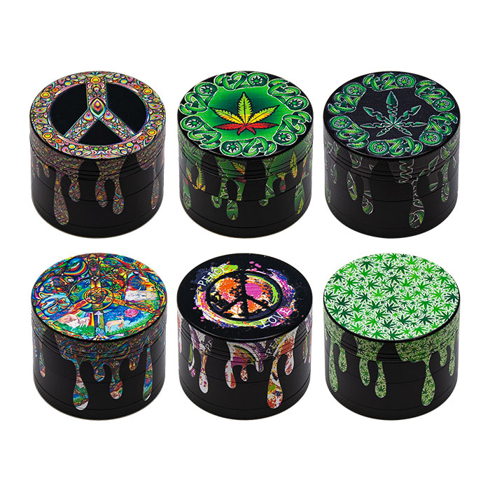 Backwoods Peace Love 4 Stage Grinders Display Of 12