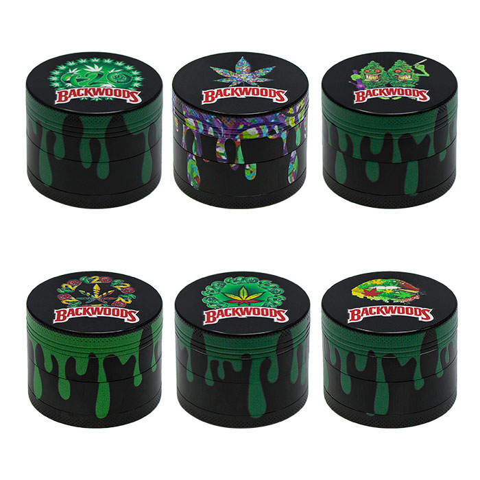 Backwoods Skull 4 Stage Grinder Display Of 12