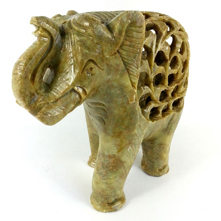 STONE CRAFTED ELEPHANT STATUE