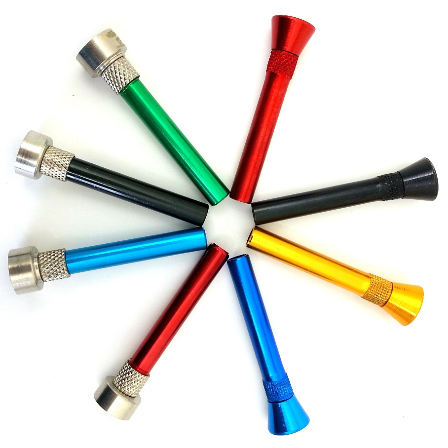 ASSORTED COLORED METAL STEM 4 INCHES
