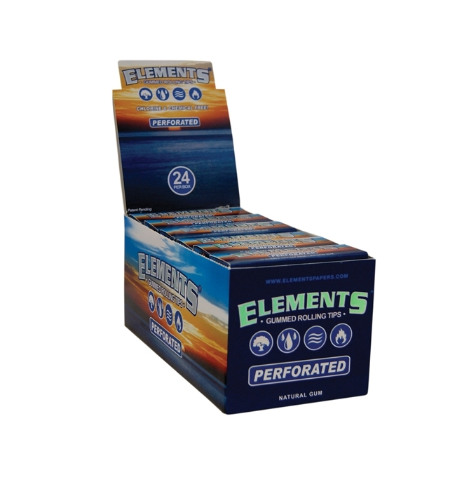 ELEMENTS TIPS GUMMED PEROFORATED 24 PER BOX