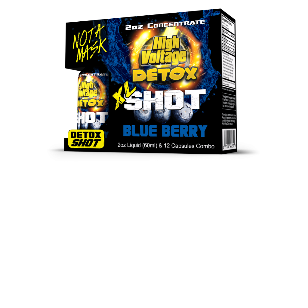 HV XL SHOT BLUEBERRY 2 OZ LIQUID AND  12 CAPSULES