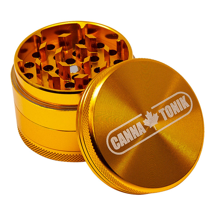 CANNATONIK ANODIZED ALUMINIUM GRINDER 56 MM GOLD