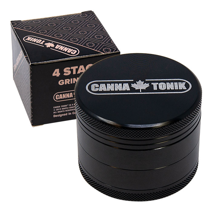 CANNATONIK ANODIZED ALUMINIUM GRINDER 50 MM BLACK