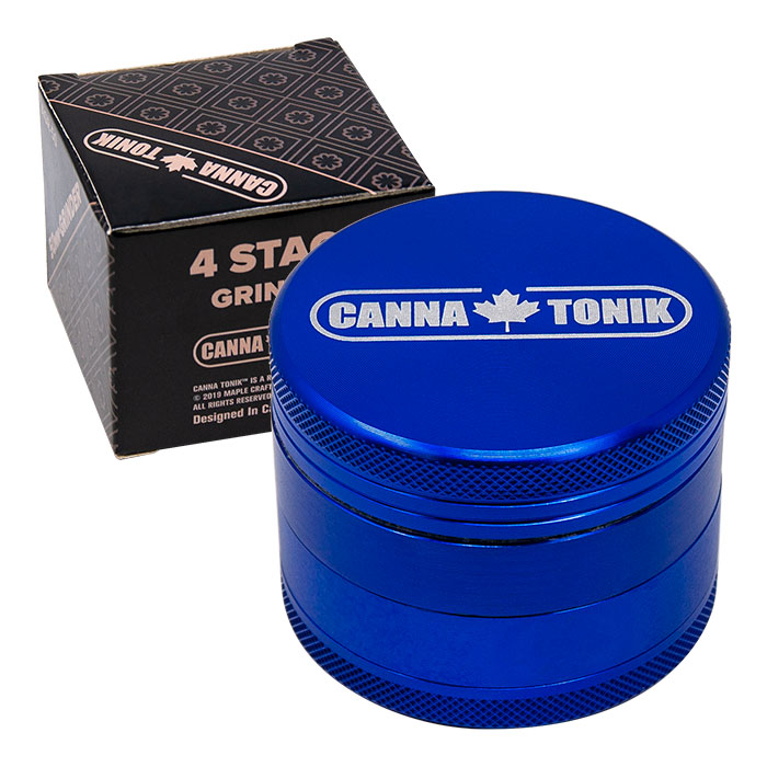 CANNATONIK ANODIZED ALUMINIUM GRINDER 50 MM BLUE