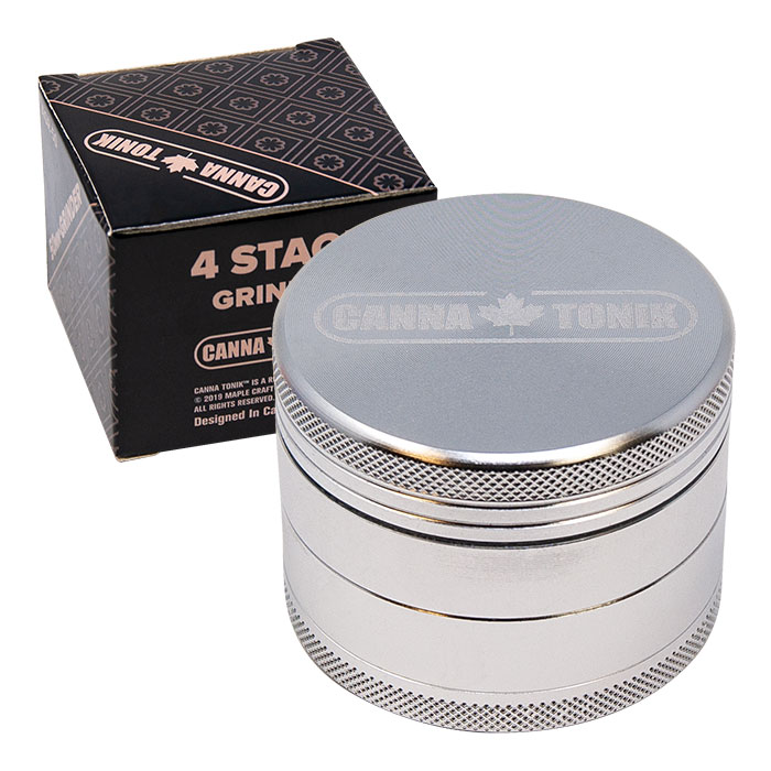 CANNATONIK ANODIZED ALUMINIUM GRINDER 50 MM SILVER
