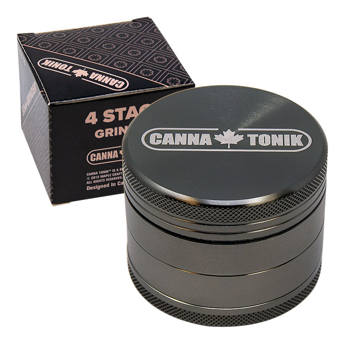 CANNATONIK ANODIZED ALUMINIUM GRINDER 50 MM GREY