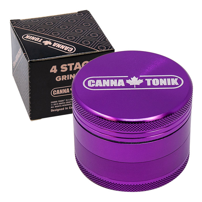 CANNATONIK ANODIZED ALUMINIUM GRINDER 50 MM PURPLE
