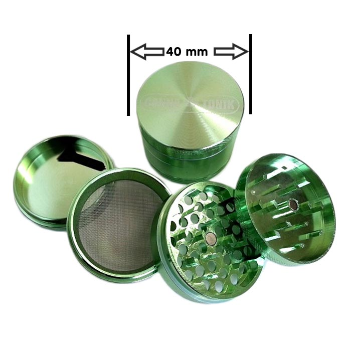 CANNATONIK ANODIZED ALUMINIUM GRINDER 40MM GREEN