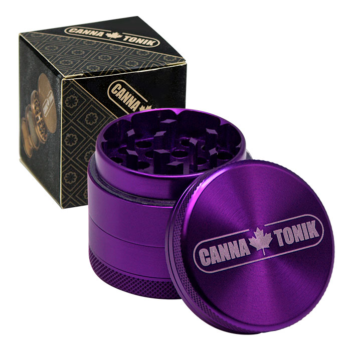 CANNATONIK ANODIZED ALUMINIUM GRINDER 40MM PURPLE