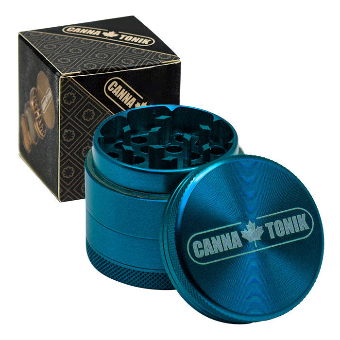 CANNATONIK ANODIZED ALUMINIUM GRINDER 40MM CYAN
