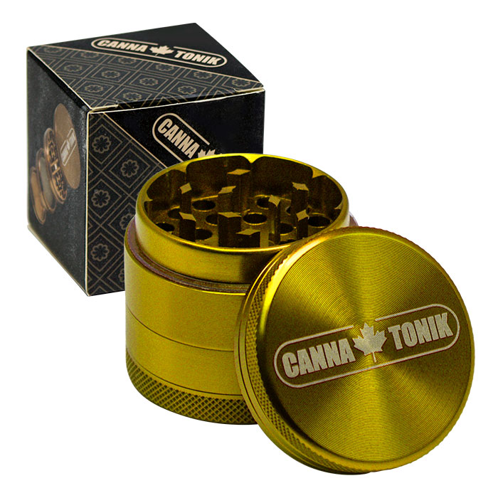 CANNATONIK ANODIZED ALUMINIUM GRINDER 40MM GOLD