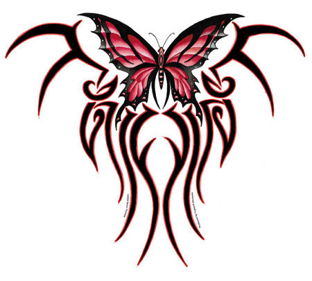 "The Claw Tribal Butterfly Jumbo 10"" Sticker"