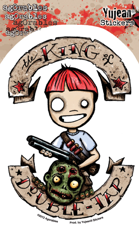 KING OF DOUBLE TAP ZOMBIE HUNTER STICKER