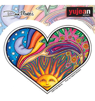 NIGHT DAY HEART STICKER