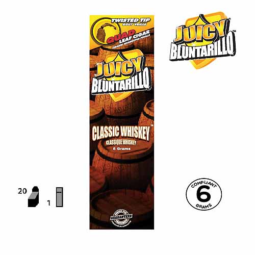 BLUNTARILLO CLASSIC WHISKEY PACK OF 20 PER BOX