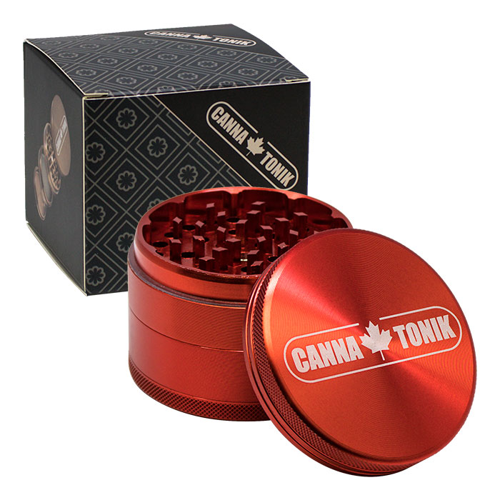 CANNATONIK  ANODIZED ALUMINIUM GRINDER 63 MM RED