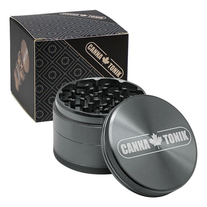 CANNATONIK  ANODIZED ALUMINIUM GRINDER 63 MM GREY