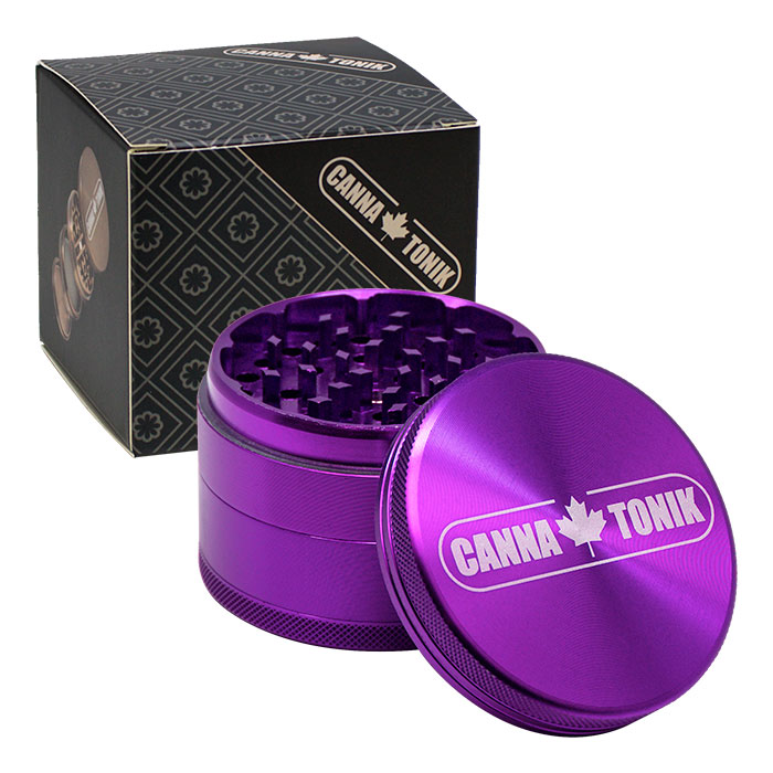 CANNATONIK  ANODIZED ALUMINIUM GRINDER 63 MM PURPLE