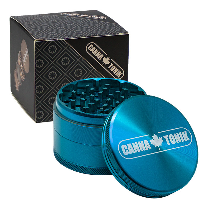 CANNATONIK  ANODIZED ALUMINIUM GRINDER 63 MM CYAN