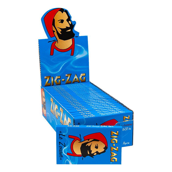 Zig Zag Blue Single wide Rolling paper