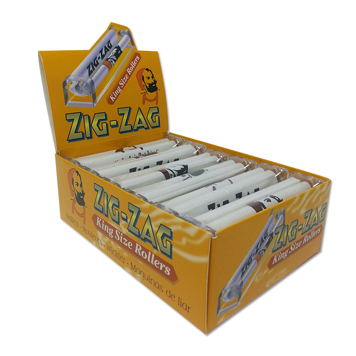ZIG ZAG 110 MM ROLLING MACHINE FITS KING SIZE PAPER 12 PER DISPLAY