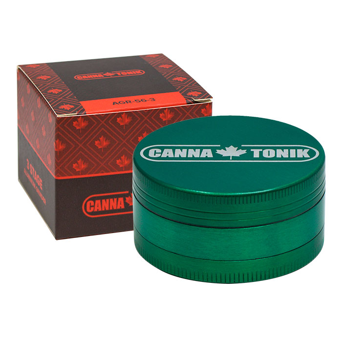 CANNATONIK GREEN ALUMINIUM GRINDER 3 STAGE 56MM