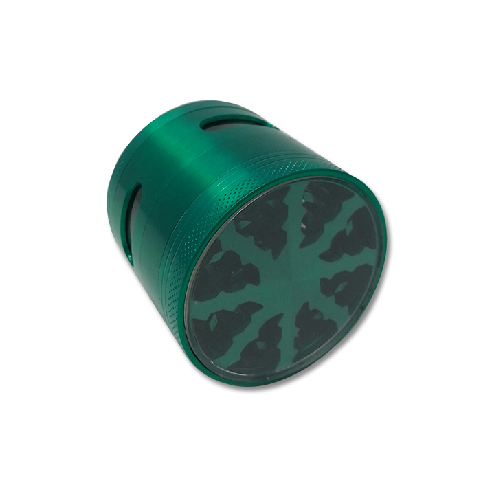 CANNATONIK GREEN LIGHTNING BOLT TEETH GRINDER WITH WINDOW