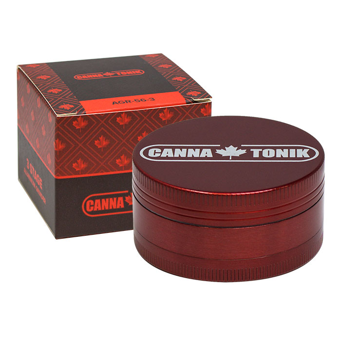 RED ALUMINIUM GRINDER 3 STAGE 56MM