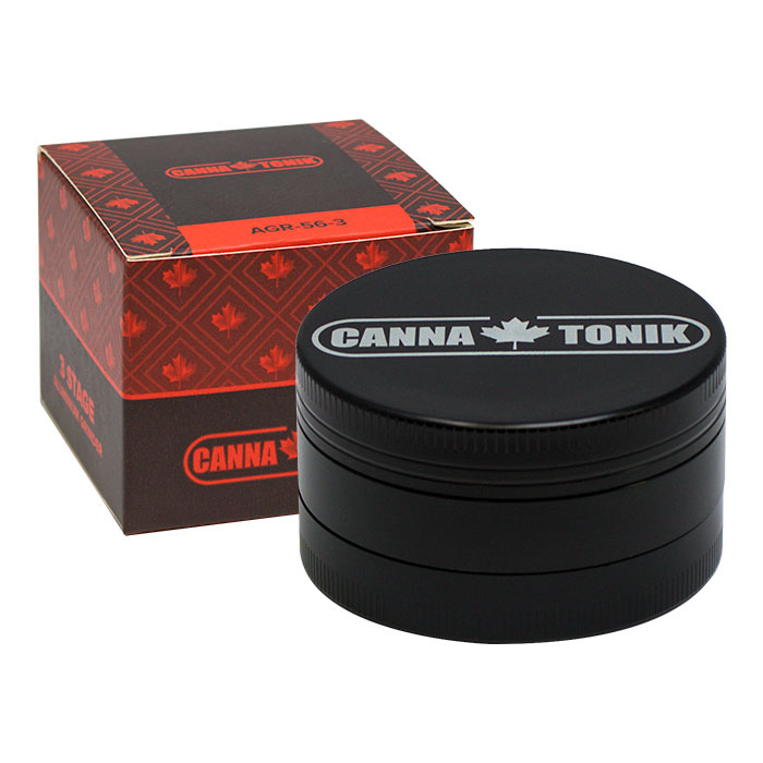 BLACK ALUMINIUM GRINDER 3 STAGE 56MM