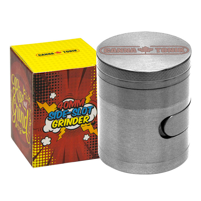 CANNATONIK ALUMINIUM SIDE WINDOW GRINDER SILVER