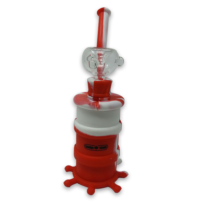 CANNATONIK Silicone OCTOPUS RED WHITE BONG