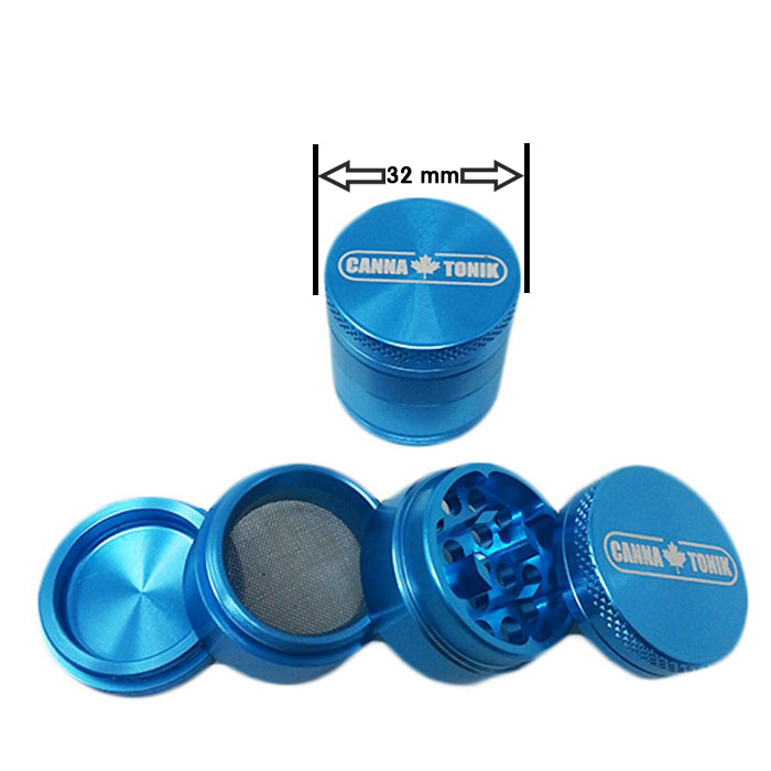 CANNATONIK ANODIZED ALUMINIUM GRINDER 30 MM BLUE