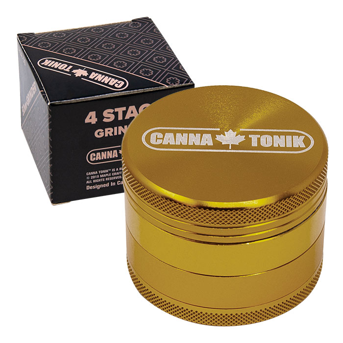 CANNATONIK ANODIZED ALUMINIUM GRINDER 30 MM BRONZE