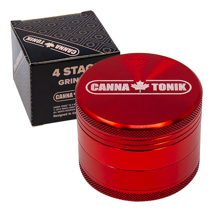 CANNATONIK ANODIZED ALUMINIUM GRINDER 30 MM RED