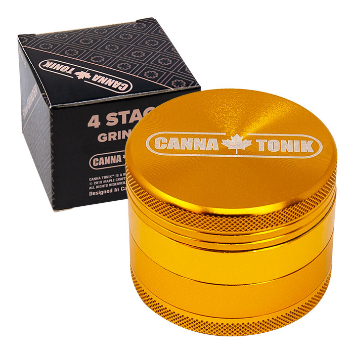 CANNATONIK ANODIZED ALUMINIUM GRINDER 30  GOLDEN