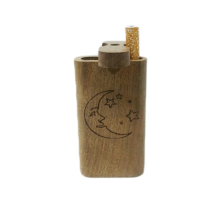 STARS AND MOON WOODEN DUGOUT 4 INCHES