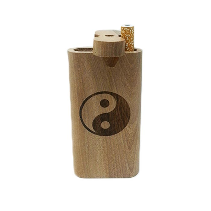 YIN YANG WOODEN DUGOUT 4 INCHES
