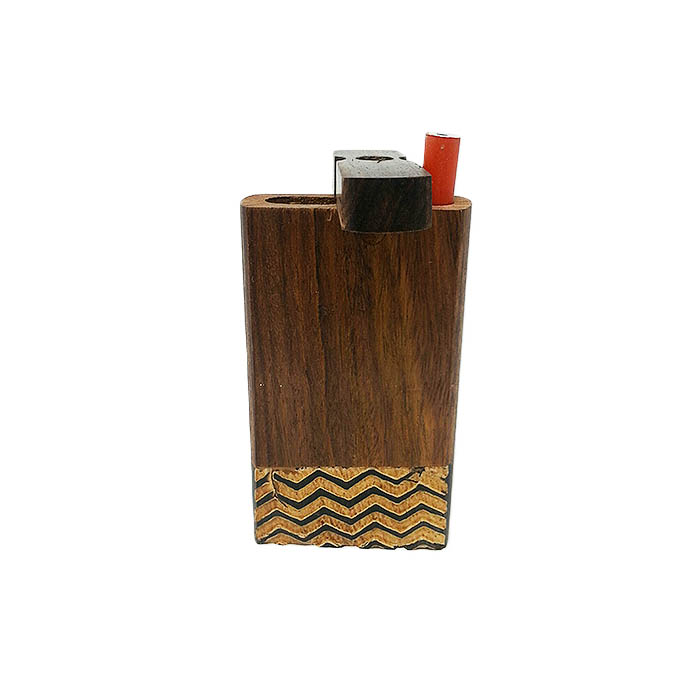 STRIPED WOODEN INLAY DUGOUT 4 INCHES