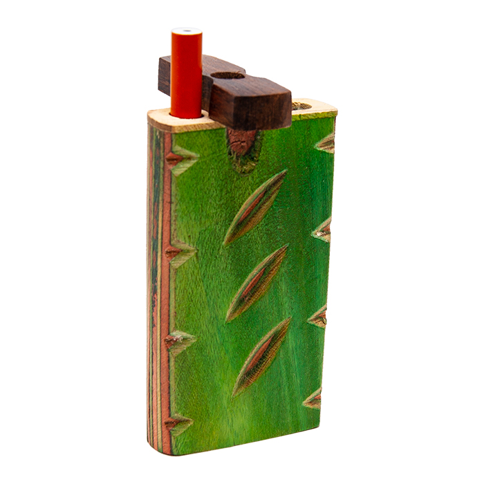 DOUBLE WOODEN DUGOUT WITH INLAY WORK 4 INCHES