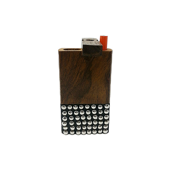 SQUARE DOTTED STEEL AND WOODEN DUGOUT 4 INCHES
