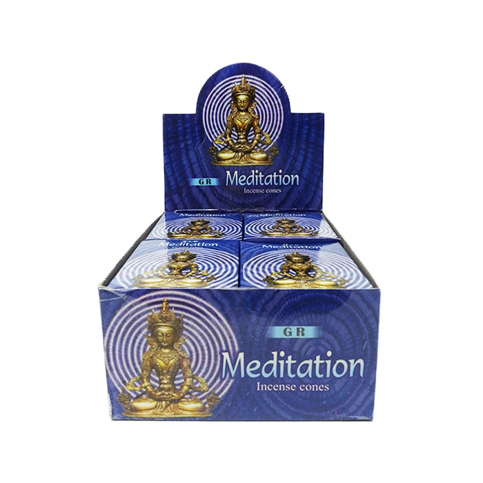 GR MEDITATION CONE DISPLAY OF 12