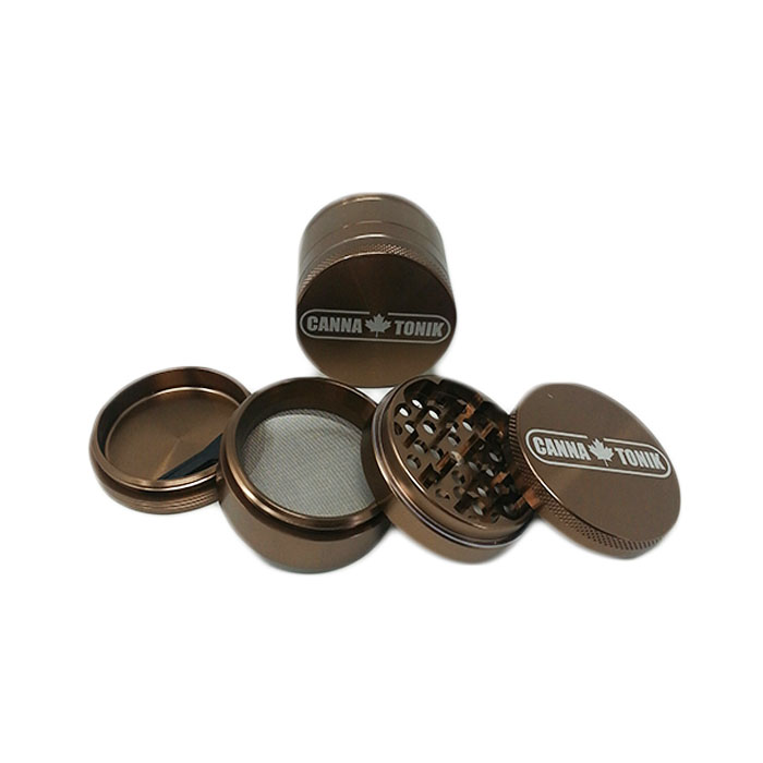 CANNATONIK ANODIZED ALUMINIUM GRINDER 50 MM BRONZE