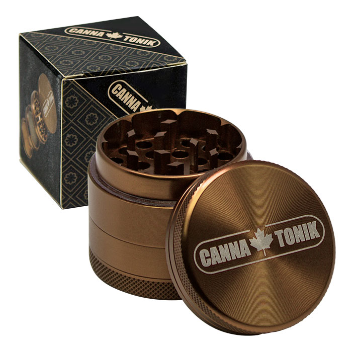 CANNATONIK ANODIZED ALUMINIUM GRINDER 40MM BRONZE