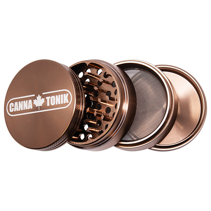 CANNATONIK ANODIZED ALUMINIUM GRINDER 63 MM COFFEE