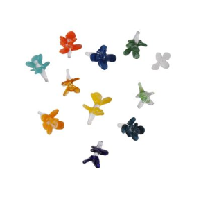 FLOWER SHAPED COLORED GLASS SCREEN